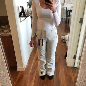 New O'Neill Insulated White Snow Pants Waterproof